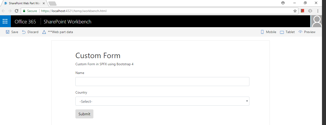 How to render separate HTML file with SPFX WebPart – Nilesh