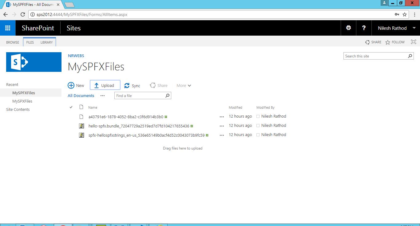 SharePoint Framework SPFX On SharePoint Server 2016 – Nilesh