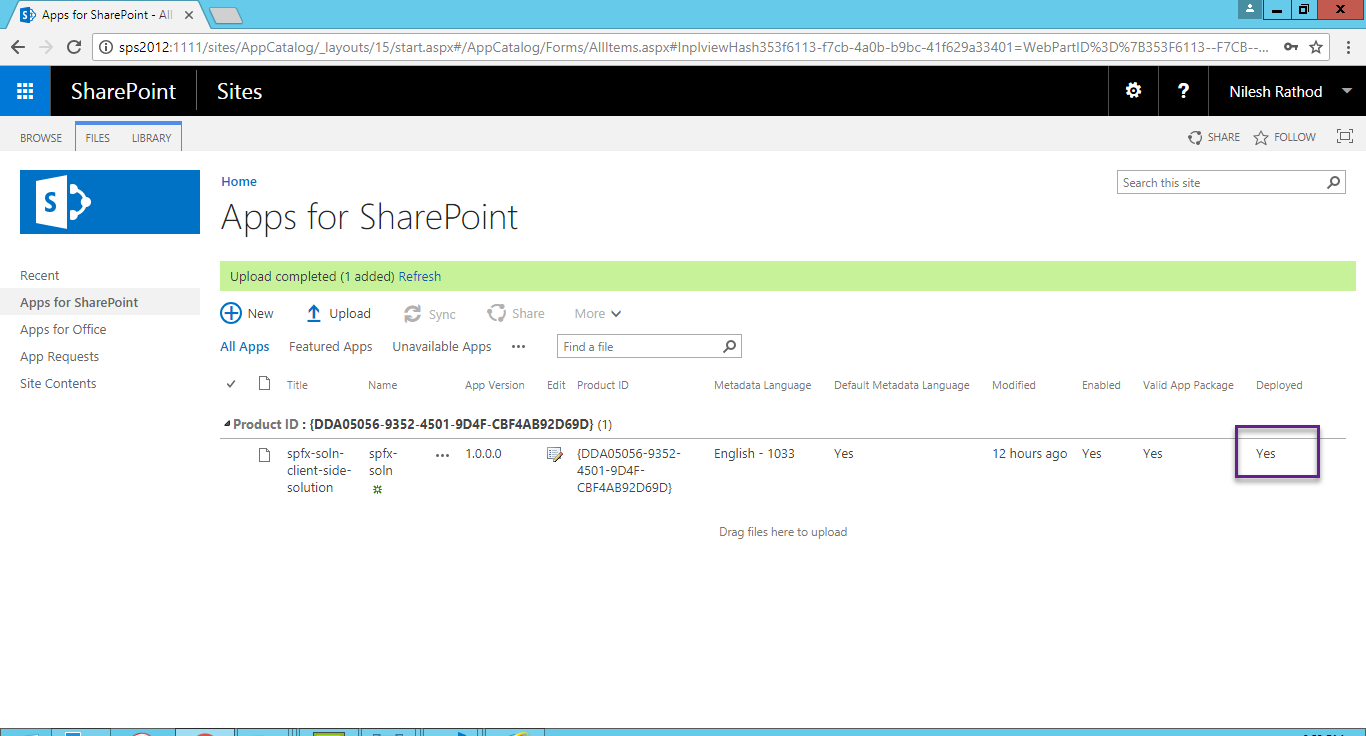 SharePoint Framework SPFX On SharePoint Server 2016 – Nilesh
